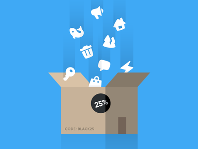 Black Friday Deals at Dutchicon black friday icon sets icon packs sale box icons