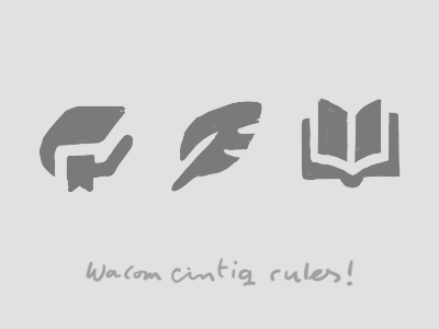 Handsketch reading icons