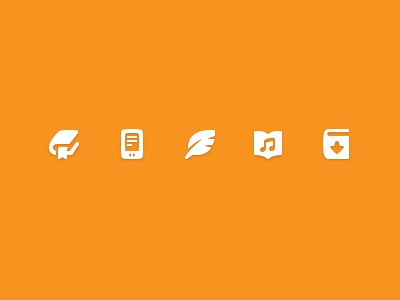 eBook icons ebook icon pictogram simple book orange ereader pixel perfect