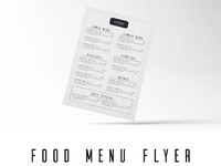 Minimal Food Menu Flyer