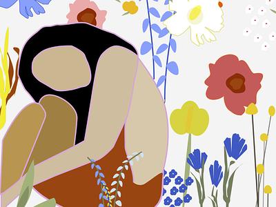 Weekly Warm Upflower illustration vectorart springtime spring flowers weeklywarmup