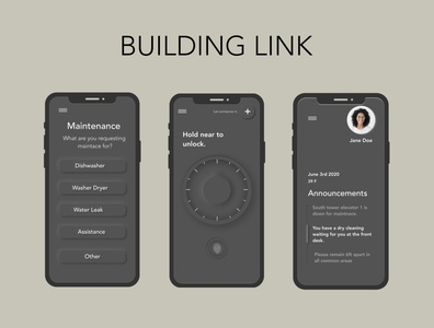 BUILDING LINK smarthome app design app home ui figma dailyui design illustration darkmode neomorphism digital art digital lock