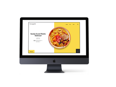 Re-design of Bon Appetit weekly warm up weeklywarmup food design recipes recipe food home branding landing page design ui figma