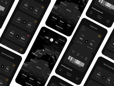 Flight Tracking app ux app design typography app branding illustration figma ui design