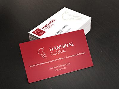 Hannibal Global Business Card Design logo design business card brand symbol hannibal global
