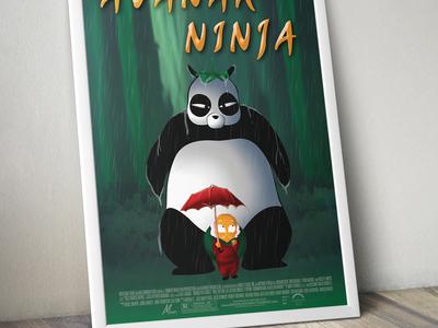 Avanak Ninja Poster poster mockup branding ninja movie movie poster panda