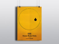 Eoi house music party poster larger