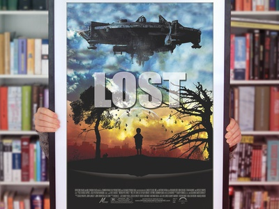 LOST Movie Poster poster poster mockup poster design lost movie movie poster earth ufo alien horror adventure