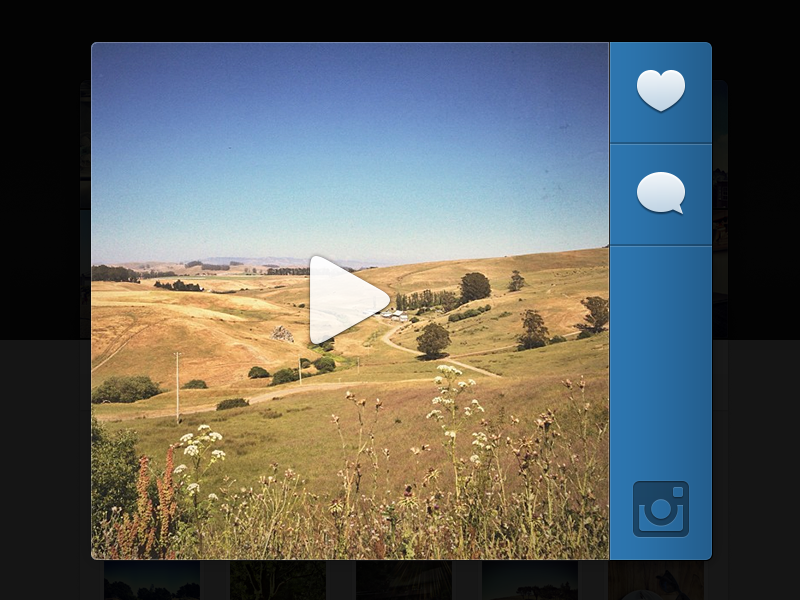 Dribbble   video on instagram