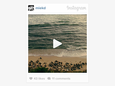 Instagram Web Embeds grey embed play video instagram launch