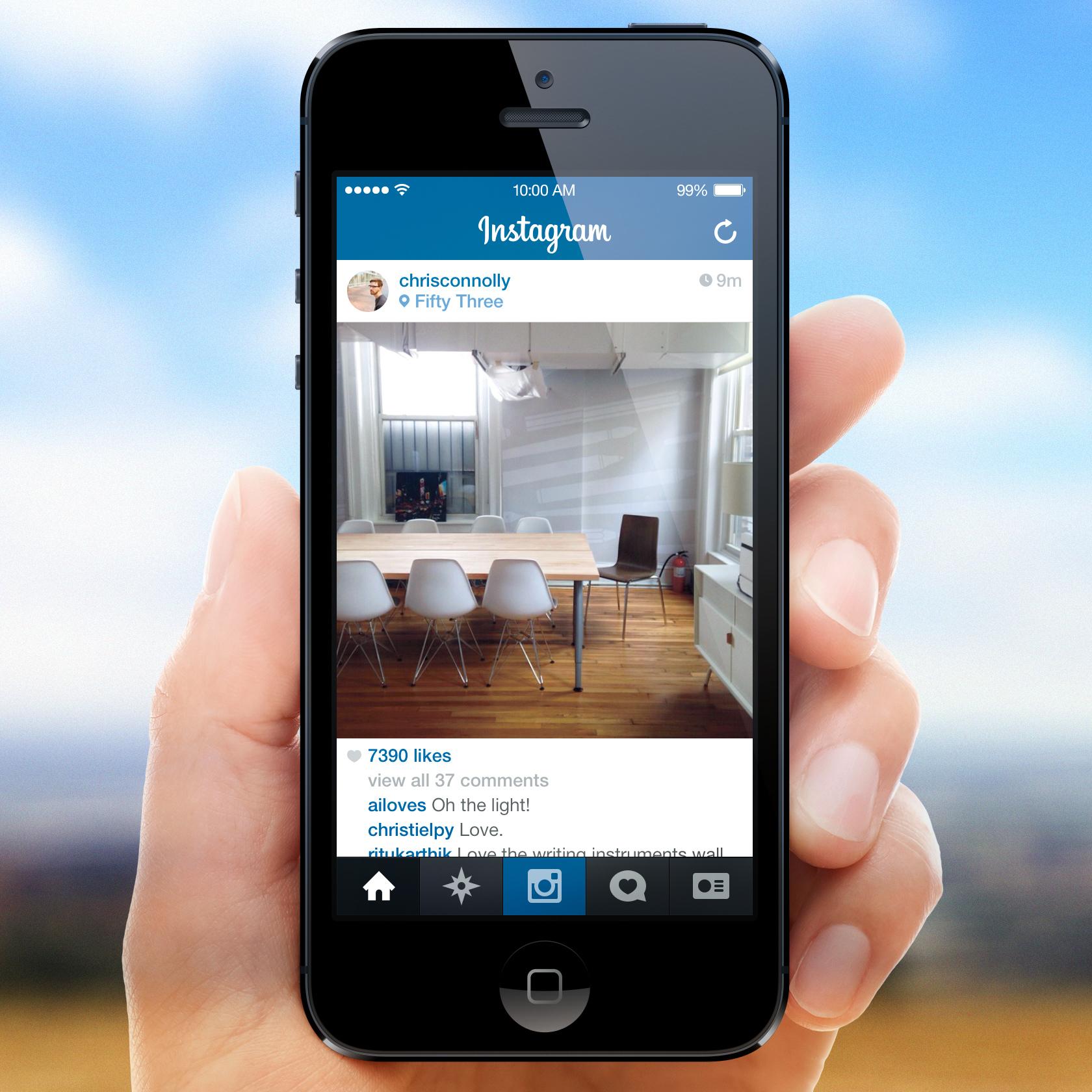 Dribbble   instagram for ios7   full