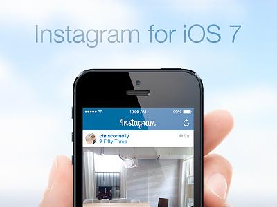 Instagram for iOS 7! instagram ios7
