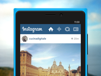 Instagram For Windows Phone 8! instagram windowsphone wp8 ui blue grey windows