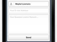 Mobile Contact Form