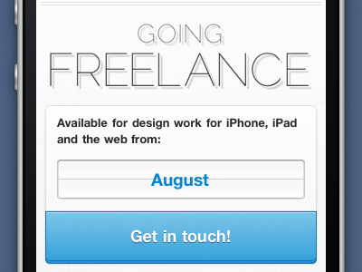 Going Freelance iphone mediaquery blue miekd
