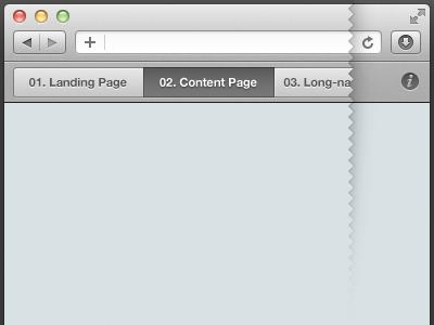 Micro Web-app — Initial mock-up ui browser safari