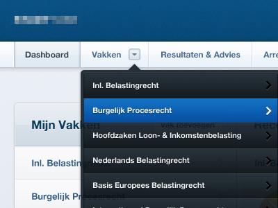 UI - Navigational Element ui navigation header active