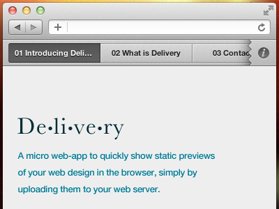 Introducing: Delivery ui mockup clients webapp bar app free delivery delivering