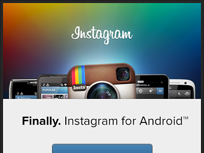 Instagram for Android — Launch E-mail android instagram mobile email launch rainbow