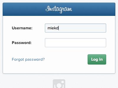 Dribbble   instagram login