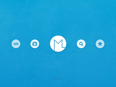 Something might be around the corner ... miekd blue logo icons glyphs