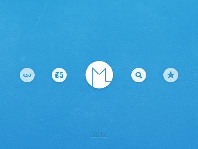 Something might be around the corner ... miekd blue logo icons glyphs