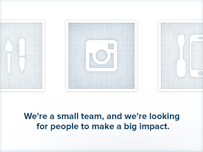 Instagram is Hiring! blue instagram icons glyphs proximanova light