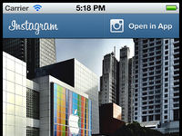 Instagram   mobile photo page   full page   retina