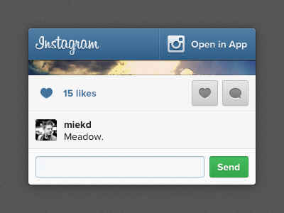 New Mobile Photo Pages are Live! instagram blue grey ui mobile web photo form comments