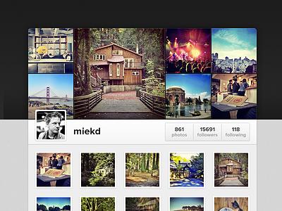 Instagram is launching Web Profiles! instagram web photos blue gray dark highlights