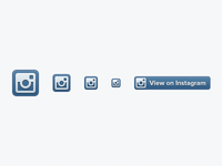 Dribbble   instagram badges  1x