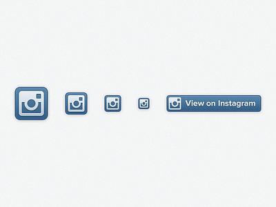 Instagram Profile Badges instagram icons glyph profile badges blue highlights retina
