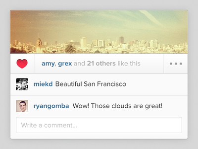 Introducing Your Instagram Feed on the Web instagram feed web grey comment ui