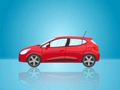 Red Car ilustration background car red car