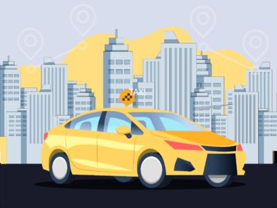 Texi Cab ilustration cab texi