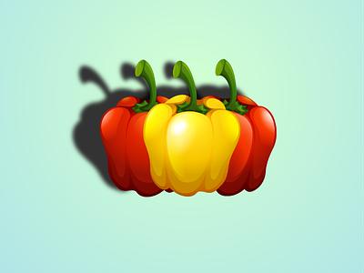 Capsicum vegetable food tree ilustration capsicum
