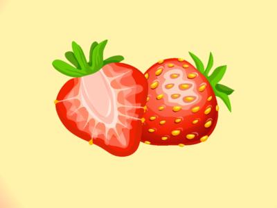 Strawberry ilustration strawberry fruit foods