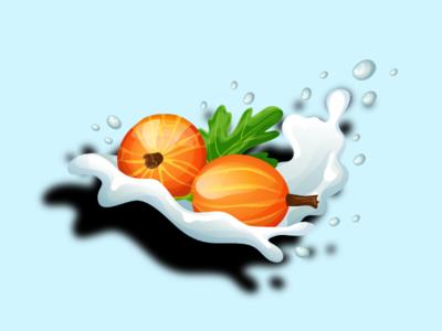 Milk and Fruits ilustration background fruit milk