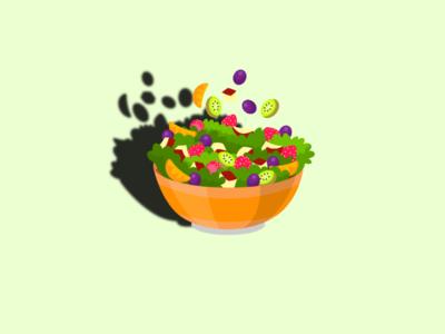 Lets Eat Something... simple ilustration background fruit bowl vegetable