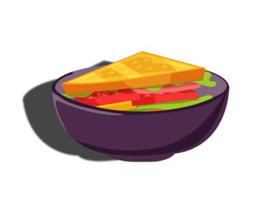 Sandwich vegetables jung food fast food food sandwich bowl