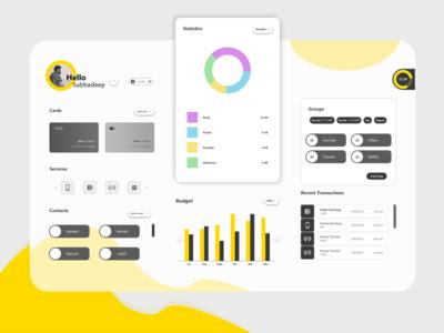 Budget Manager website web minimal icon flat design ux ui app animation