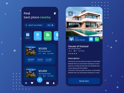 Real Estate Rental | Mobile App mobile app application design app mobile app design uidesign design rental app real estate app real estate for sale rental properties real estate agency rental real estate
