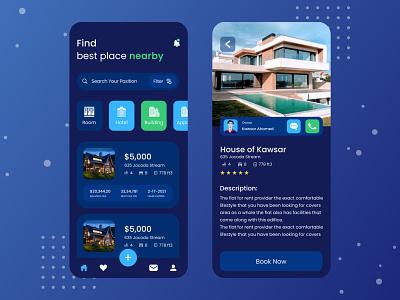 Real Estate Rental | Mobile App mobile app application design app mobile app design uidesign design rental app real estate app real estate for sale rental properties real estate agency rental real estate