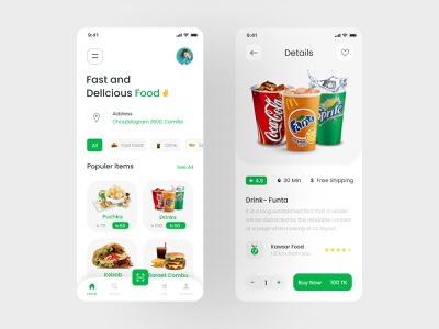 Food Delivery - Mobile App mobile app design minimal app design app ui ui ux food and drink food app food delivery food delivery app food delivery application food delivery service food order food ordering grocery kawsar delivery service fast food grocery app delivery app