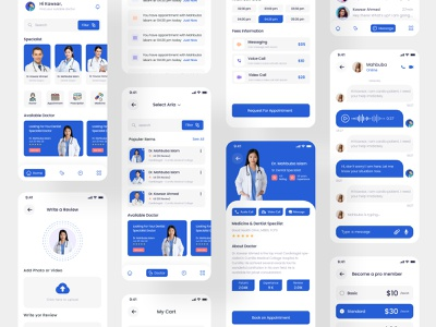 Doctor Appointment Mobile App clinic hospital medicine patients patient app doctor appointment doctor app health app healthcare health medical medical app medical design medical care mobile app mobile design mobile app design mobile ui mobile application product design