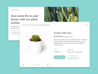 Cactaceae UI KIT adobe xd free ui kit freebie user interface web design cactus adobe experience design web ui kit ui