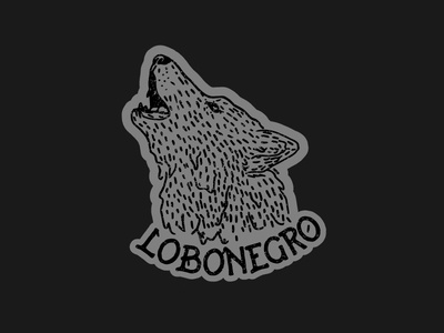 Lobo Negro rock band logo design illustration black wolf logo wolf logo wolf