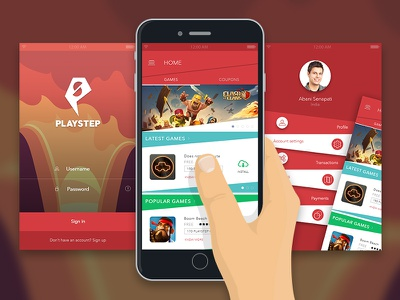 Playstep App destination coupons and applications game