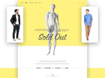 Sold Out Page page out sold
