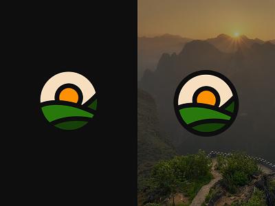 Sunrise logo - Inspired by nature nature by inspired - logo sunrise
